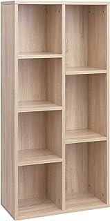 VASAGLE Librería con 7 Compartimentos Estantería de 7 Cubos Abiertos para Salón Estudio Oficina 50 × 24 × 106 cm (Lar...
