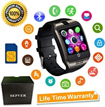 Smart Watch, SN06 Smartwatch with Touch Screen Camera SIM Card Slot Sport Watch Pedometer Fitness Tracker Smart Watches for Samsung Xiaomi Huawei Motorola Android iPhone for Men Women Kids (Black)