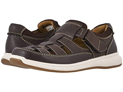 Florsheim Kids Great Lakes Fisherman Jr. (Toddler/Little Kid/Big Kid) (Brown Crazy Horse/Milled/White Sole) Boy