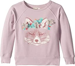 Floral Fox Sweatshirt (Toddler/Little Kids/Big Kids)
