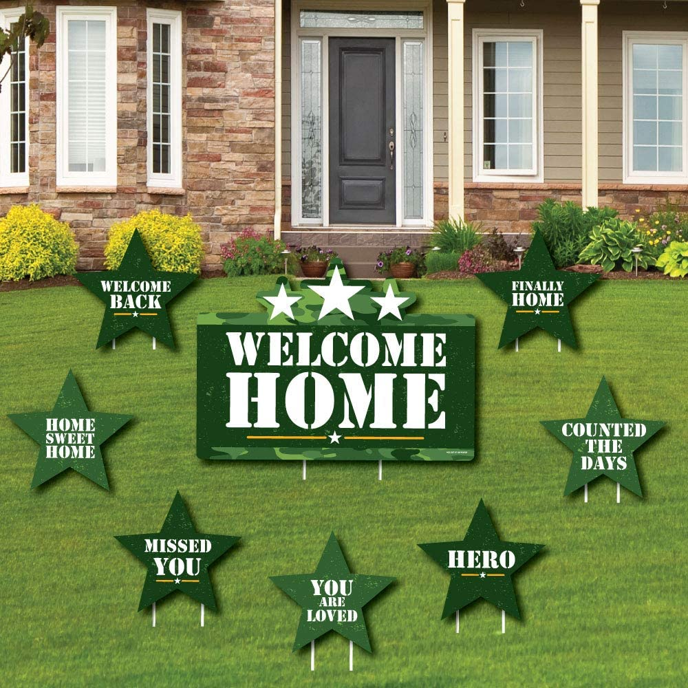 Welcome Low price Home Hero - Yard Sign Mil Popular brand in the world Decorations Lawn and Outdoor