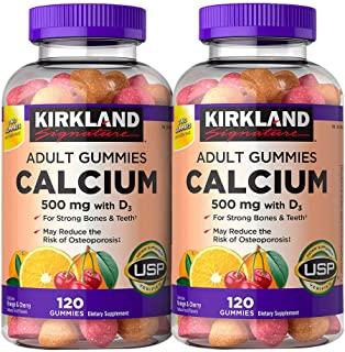 Kirkland Signature Calcium 500 mg with D3, 240 Adult Gummies