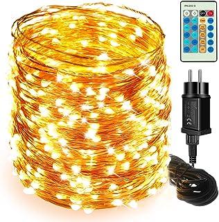 LED Cadena de Luces - Moobibear 50M 500 LED Luces de Hadas, Alambre de Cobre IP65 Impermeable, Guirnalda de Luces Exterior...