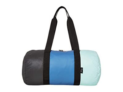 Herschel Supply Co. Day/Night Duffel (Reflective Black/Riverside/Eggshell Blue) Duffel Bags