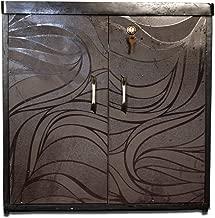 Asha Furniture 2-Door Shoe Rack Made with Engineered Wood, Brown