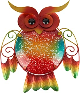 outdoor owl metal wall art