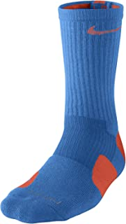 Elite Basketball Crew Socks Photo Blue Team Orange SX3693-489 Size 8-12