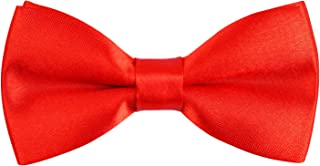 Solid Banded Adjustable Length Pre-tied Boy's Bow Tie