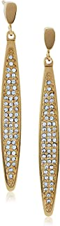 Esprit Fashion Women's Earrings Rose-It-EXCLUSIVE Rhodium-Plated Stainless Steel-Glass transparent