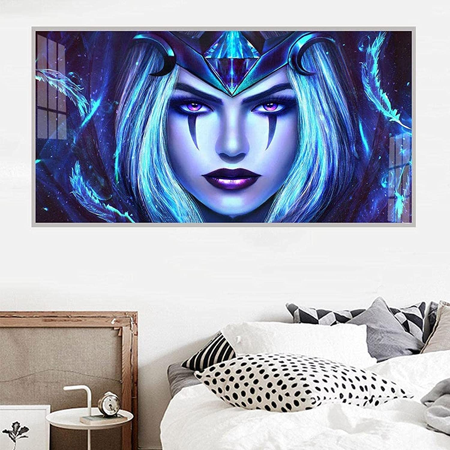 Canvas Print 19.7x59.1in 50x150cm No Cheap SALE Start Frame Cartoon Oil Painting Store