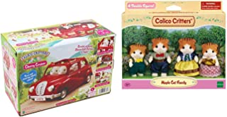 Calico Critters Cherry Cruiser with Maple Cat Family Bundle