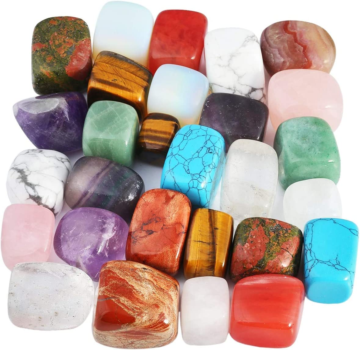 Nupuyai 1 lb Tumbled Ranking TOP7 Stones Shape Challenge the lowest price of Japan Crystals R Polished Irregular