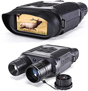 Binocular Digital de visión Nocturna para la Caza 7x31 con cámara infrarroja TFT LCD HD de 2 Pulgadas y videocámara Rango de visualización de 1300 pies / 400M con Tarjeta de Memoria 32G