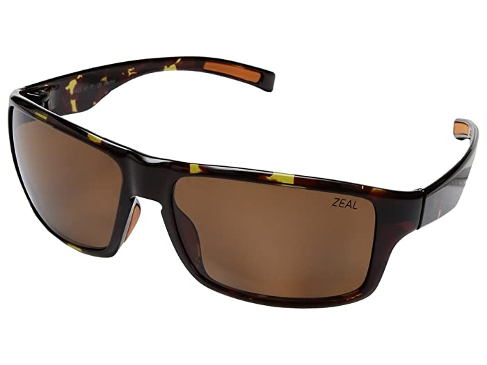 Zeal Optics  Incline (Tortoise with Polarized Copper Lens) Athletic Performance Sport Sunglasses