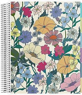 Erin Condren 12 - Month 2020-2021 Flower Power Teacher Lesson Planner (July 2020-June 2021) - Kaleidoscope Interior Design, 210 Pages of Planning Potential