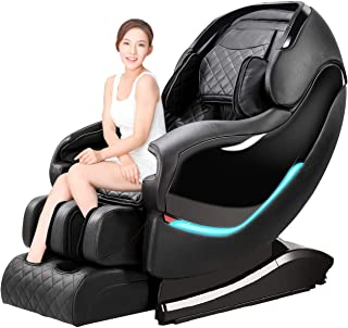 Massage Chair Recliner, Zero Gravity SL-Track Full Body Shiatsu Luxurious Electric Massage Chair with Stretched Tapping Mode Heating Back and Foot Massage Therapy (Black)