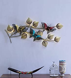 Collectible India Metal LED Light Wall Decor Hanging, Multicolor 3D Butterfly Design with Wall Mounted & Hanging Modern Ar...