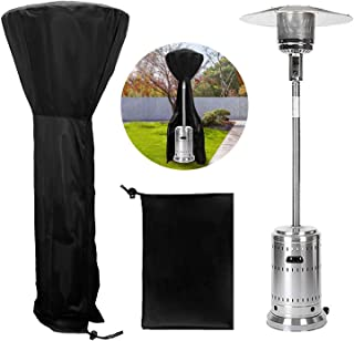 Jane Choi Patio Heater Cover Waterproof with Zipper, Black Universal Standup Outdoor Round Heater Covers Protects from Sno...