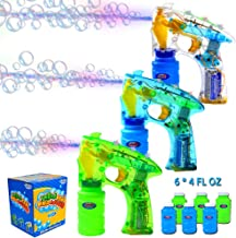 JOYIN 3 Bubble Guns Kit for Bubble Blaster Party Favors, LED Bubble Machine Blaster Party..