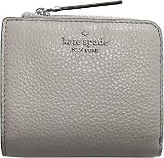 Kate Spade New York Jackson Small No Window L-Zip Bifold Wallet Soft Taupe Pebble Leather