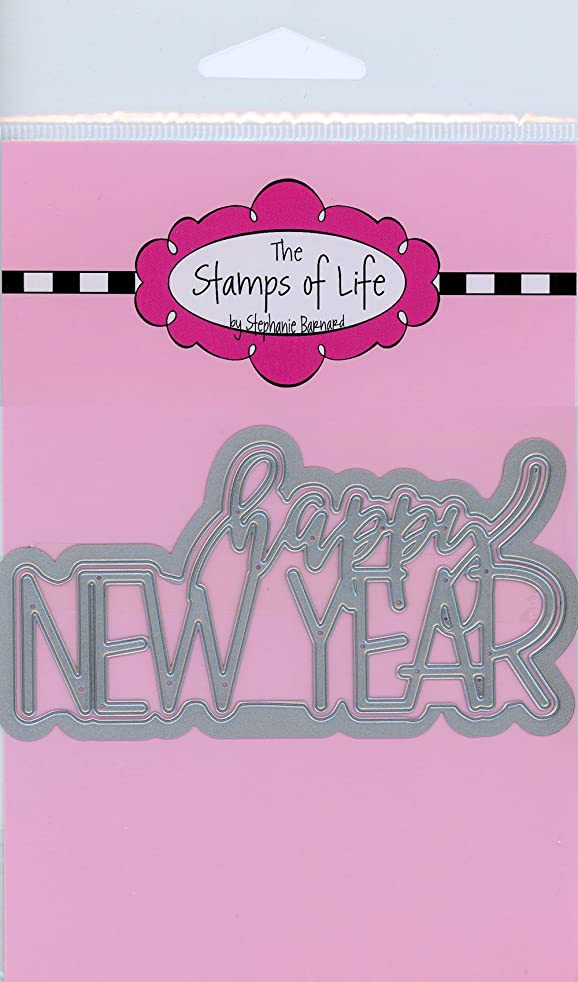 Happy New Year Metal Die Cuts for Scrapbooking and Card-Making by The Stamps of Life - Trendy Holiday Die Cuts