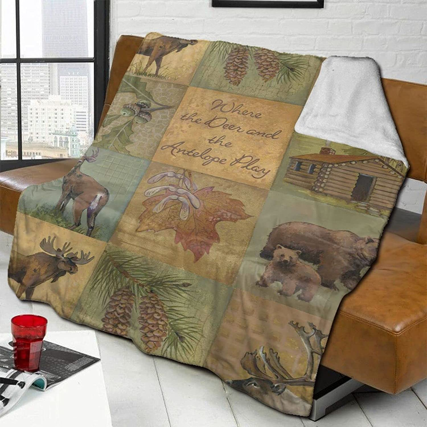 Where Fixed price for sale The Deer Throw Blanket Max 40% OFF Lamb Double-Sided Bed Wool