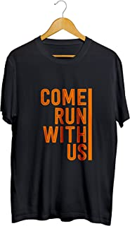 Camisetas Camisa Come Run With Us Corrida Masculino Preto