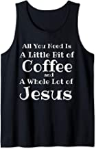 Jesus Lover Coffee Mom T-Shirt, Java Junkie Christian Tank Top