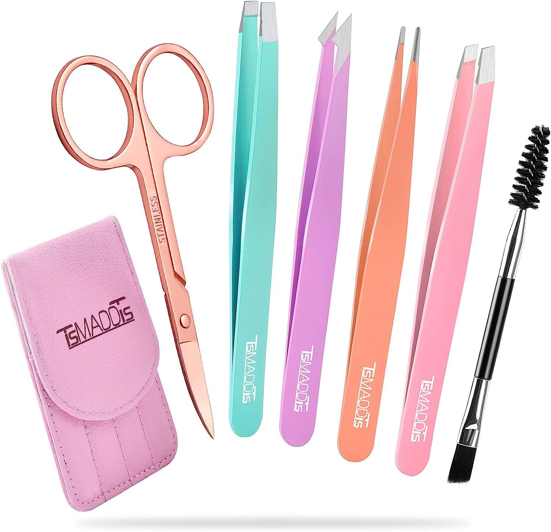 Eyebrow Super Special New sales SALE held Tweezer Set TsMADDTs 6 Tweezers Pcs for Women Prec