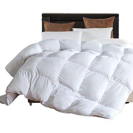 LLOVSOUL Twin Comforter Duvet Insert White - Hypoallergenic Plush Fiberfill, Lightweight Down Alternative Comforter (68x90 inches) Summer Comforter