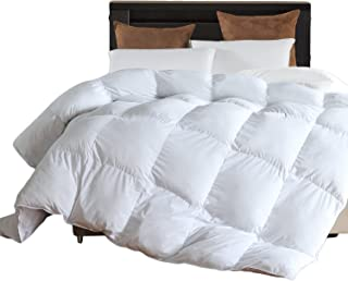 Down Alternative Comforter (White,King) - Ultra Soft Brushed Microfiber - Hypoallergenic Plush Mircofiber Comforter Duvet Insert by LLOVSOUL (106x90 inches)