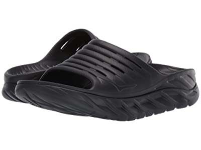 Hoka One One Ora Recovery Slide 2 (Black/Black) Men