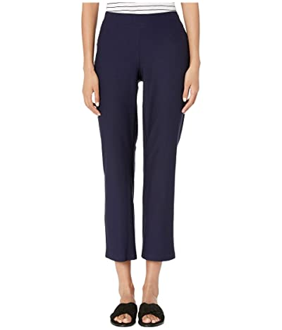 Eileen Fisher Washable Stretch Crepe Flare Ankle Pants (Midnight) Women