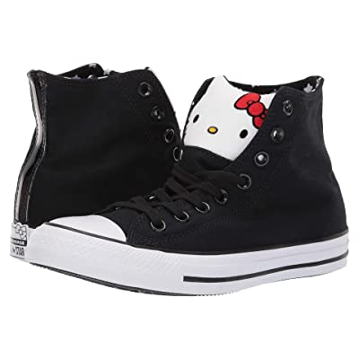 Converse Hello Kitty(r) Chuck Taylor All Star Hi (Black/Fiery Red/White) Lace up casual Shoes