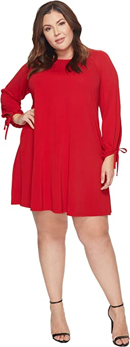 Karen Kane Plus - Plus Size Tie Sleeve Swing Dress