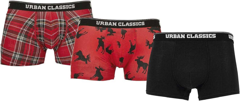 Urban Classics Men Boxer Shorts Pack of 3