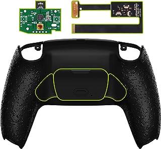 eXtremeRate Kit de remapa texturizado preto programável para controle PS5, placa de atualização e capa traseira e botões t...