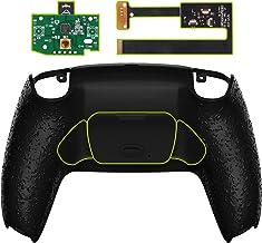 eXtremeRate Getextureerde Zwarte Programmeerbare RISE Remap Kit voor P S 5 Controller, Upgrade Board & Herontworpen Back S...