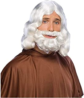 Character Beard, Conservative Straight Gray Beard