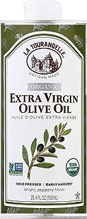 La Tourangelle Organic Extra Virgin Olive Oil 25.4 Fl. Oz, Organic, Cold-Pressed Extra Virgin Olive Oil, All-Natural, Arti...