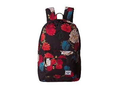 Herschel Supply Co. Heritage (Vintage Floral Black) Backpack Bags
