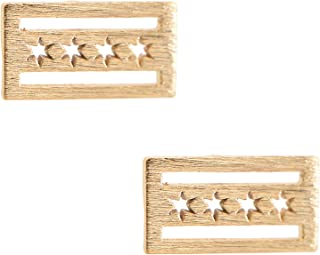 chicago flag earrings