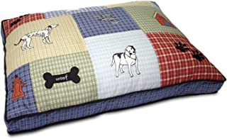 Petmate Quilted Applique Dog Bed, Classic Dog Motif, Large Grand, 27