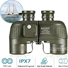 BNISE HD Binoculars for Adults, Navigation Compass and Rangefinder for Hunting, 10x50 Large Object Lens BAK4 Large View, Waterproof and Fogproof, with Harness Strap and Neck Strap
