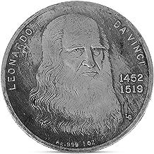 Qingchin Copy Replica Leonardo Da Vinci Naked Lady Painting Embossed Plating Copper Souvenir Coin