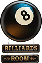 Open Road Brands Vintage Retro Metal Tin Signs - Game Room Signs (Billiards Room) - Great for Gamerooms, Man Caves, Wall Art, Home Decor and Much More