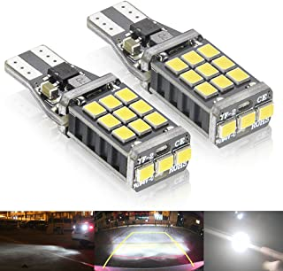 Rayhoo 1100 lumens Extremely Bright 921 912 LED Backup Light Bulbs Canbus Error Free T15 906 W16W socket 21pcs 3020PX Chipsets, Only For Backup Reverse Lights, Xenon White 6000K, 2pcs
