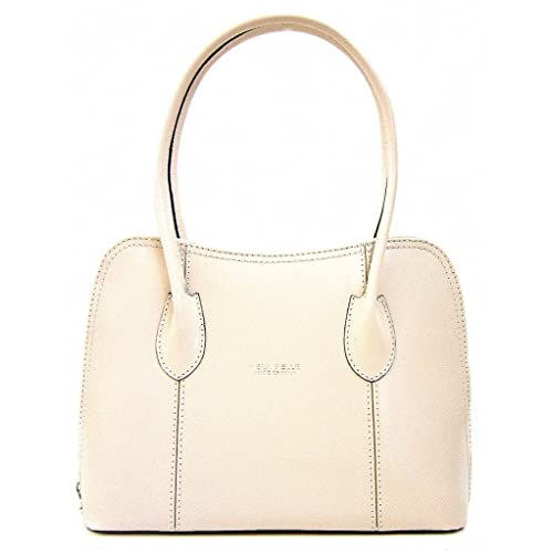 Italian Smooth Shiny Leather Classic Style Tote Grab Bag or Shoulder Bag 497261a07d997