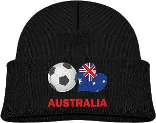 Td45JS&EW Kids Warm Knitted Cap Soccer Fan Australia Kintting Hat
