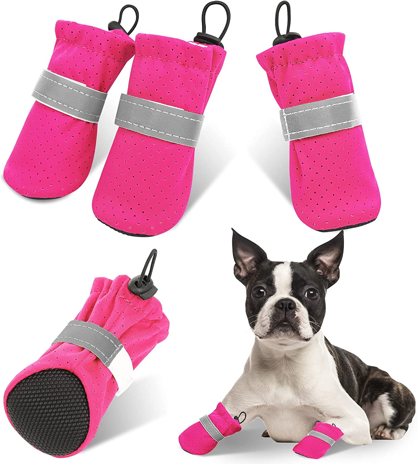 AOFITEE Dog Boots Free shipping on Max 76% OFF posting reviews Soft Puppy Pet Shoes Boot Breathable